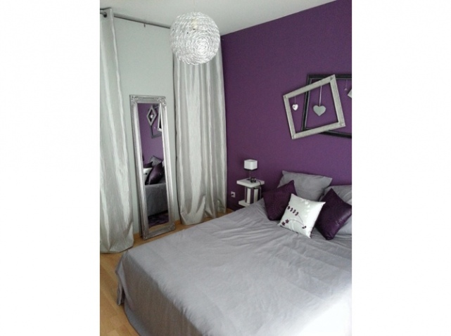 deco chambre gris blanc mauve. Black Bedroom Furniture Sets. Home Design Ideas