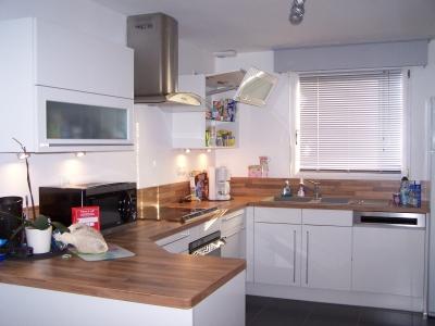 Deco cuisine blanc et bois - Cuisine blanc et bois moderne ...