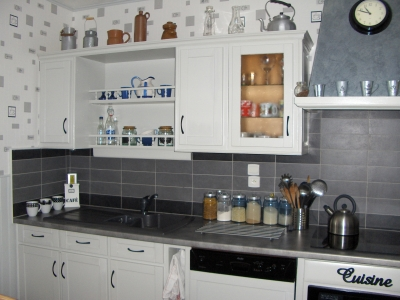 Deco cuisine blanc et gris - Cuisine grise et blanc ...