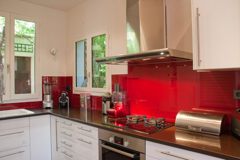 Deco cuisine blanc et rouge for Deco cuisine retro rouge
