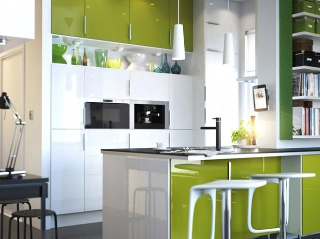 ide deco cuisine blanche et verte