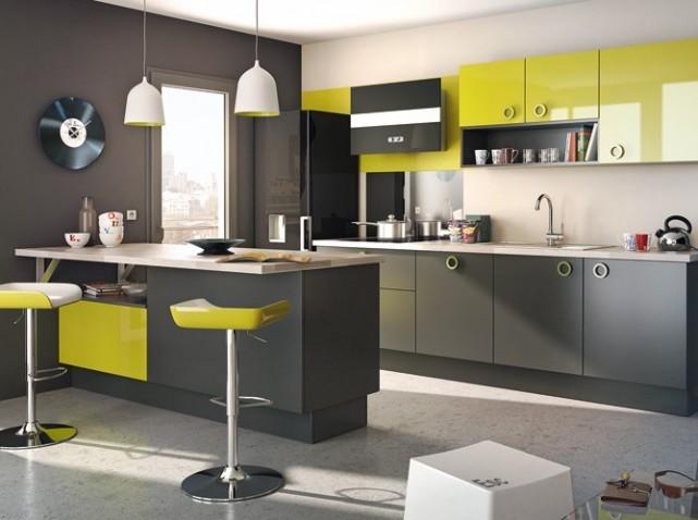 Deco cuisine blanche et verte for Organisation cuisine