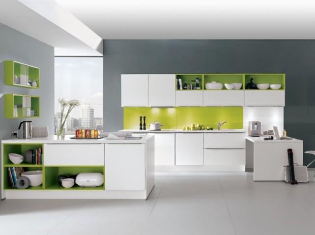 Deco cuisine blanche et verte for Deco de cuisine blanche