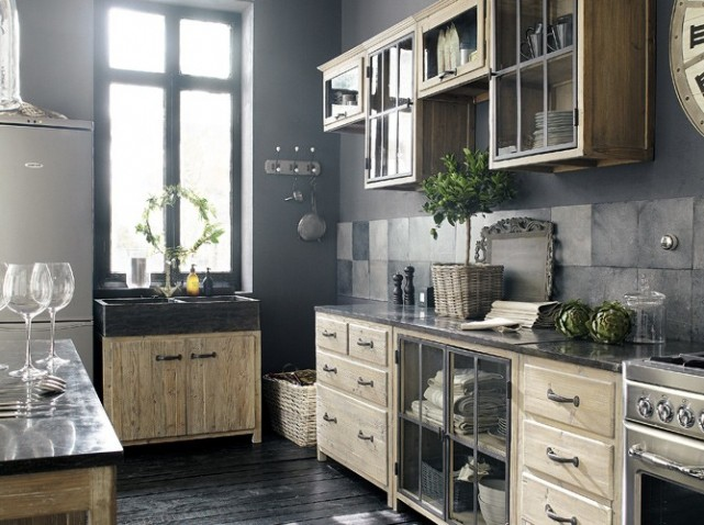 deco cuisine campagne chic. Black Bedroom Furniture Sets. Home Design Ideas