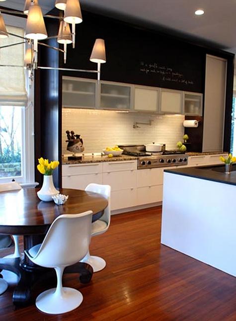 deco cuisine contemporaine blanche. Black Bedroom Furniture Sets. Home Design Ideas