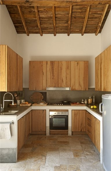 deco cuisine moderne bois. Black Bedroom Furniture Sets. Home Design Ideas