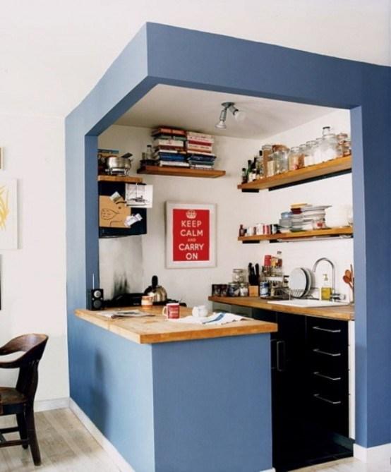 Deco cuisine moderne petit espace for Exemple deco
