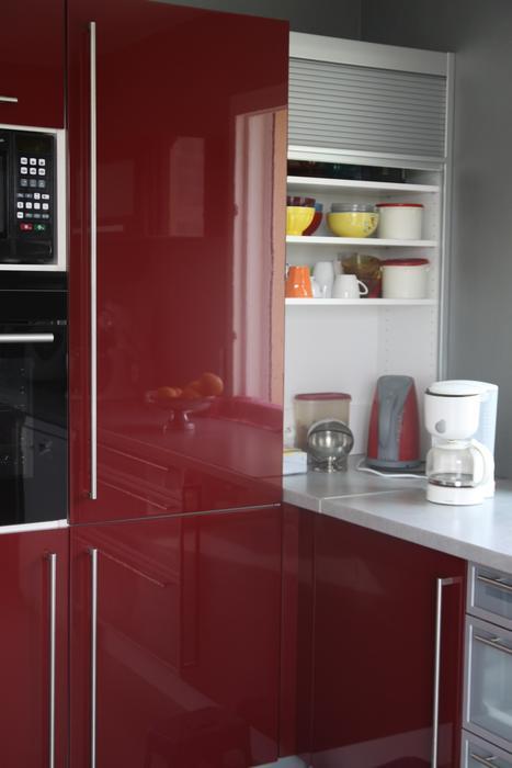 Deco cuisine moderne rouge for Cuisine moderne rouge bordeaux
