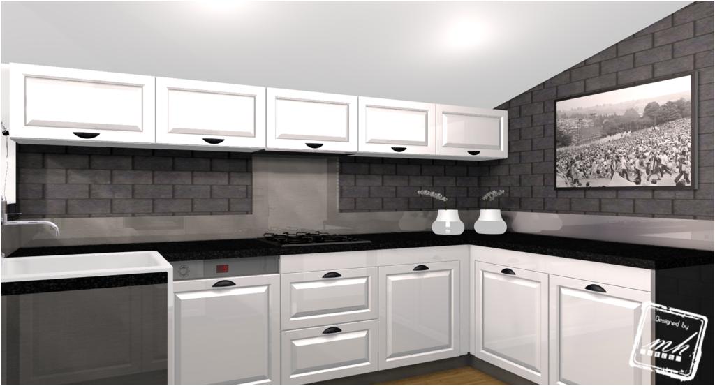 Deco cuisine noir blanc gris for Cuisine noir blanc gris