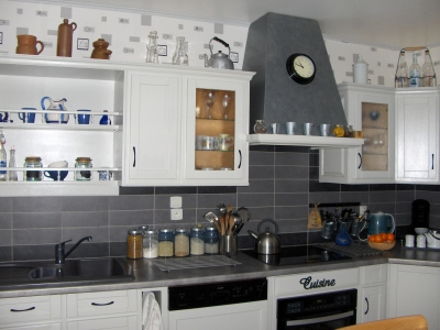 modele cuisine noir et blanc simple cool incroyable modele deco