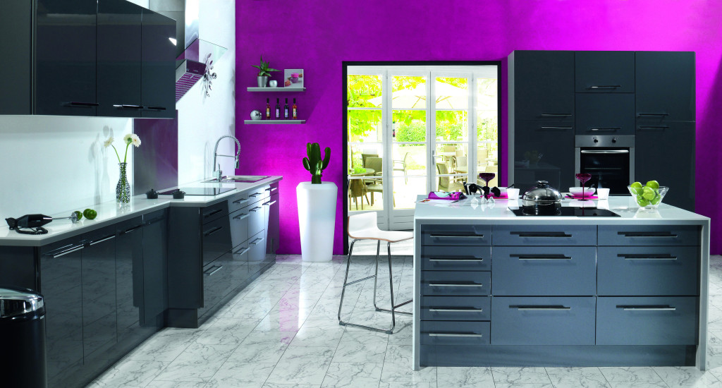 Deco cuisine peinture couleur for Peinture cuisine couleur