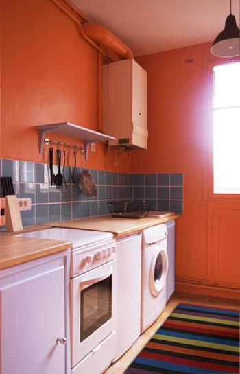 deco cuisine peinture orange