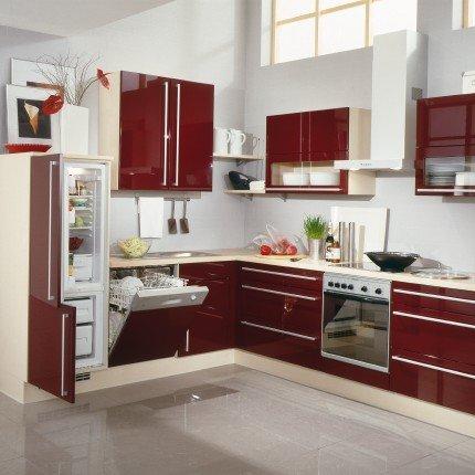decoration cuisine rouge bordeaux