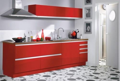 deco cuisine rouge et blanc. Black Bedroom Furniture Sets. Home Design Ideas