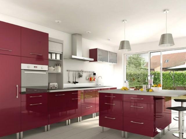 Deco cuisine rouge et taupe for Deco de cuisine rouge
