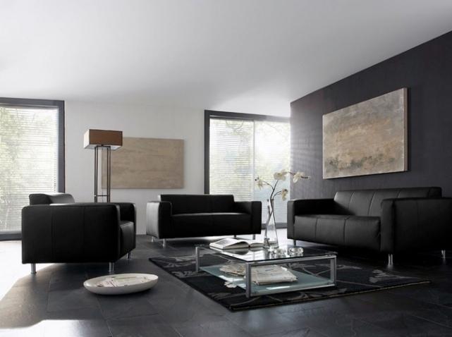 Deco de salon blanc et gris avec des id es for Decoration salon gris et blanc