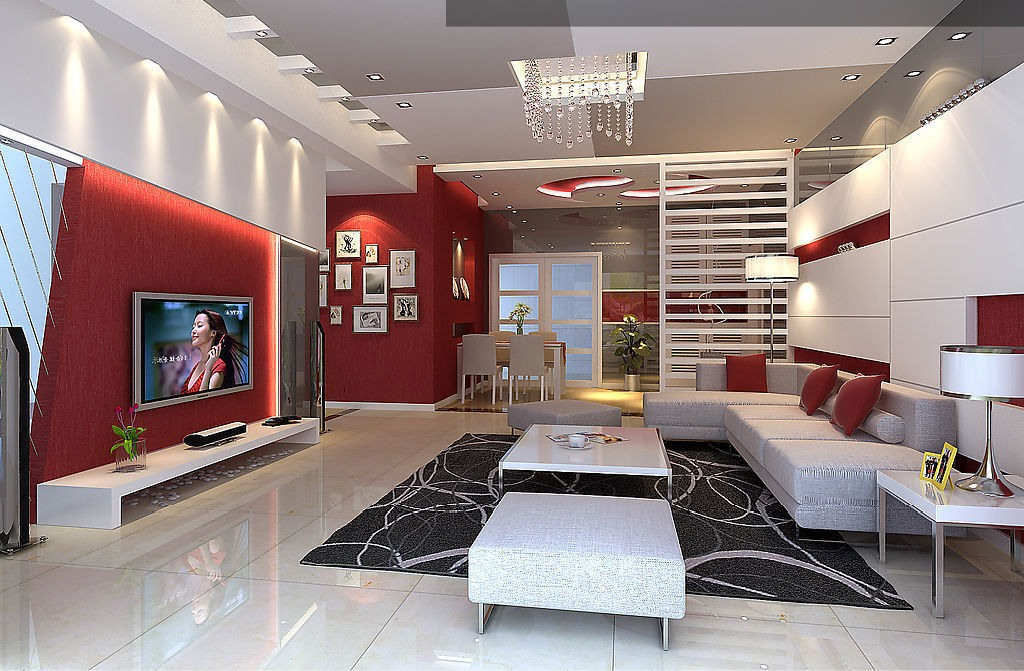 deco de salon gris et rouge. Black Bedroom Furniture Sets. Home Design Ideas