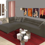 deco salon contemporain noir