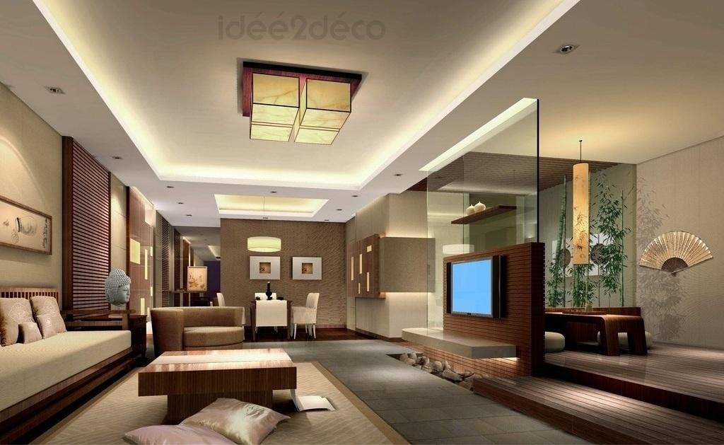 Deco salon contemporain noir - Deco salon zen moderne ...