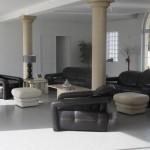 deco salon contemporain noir