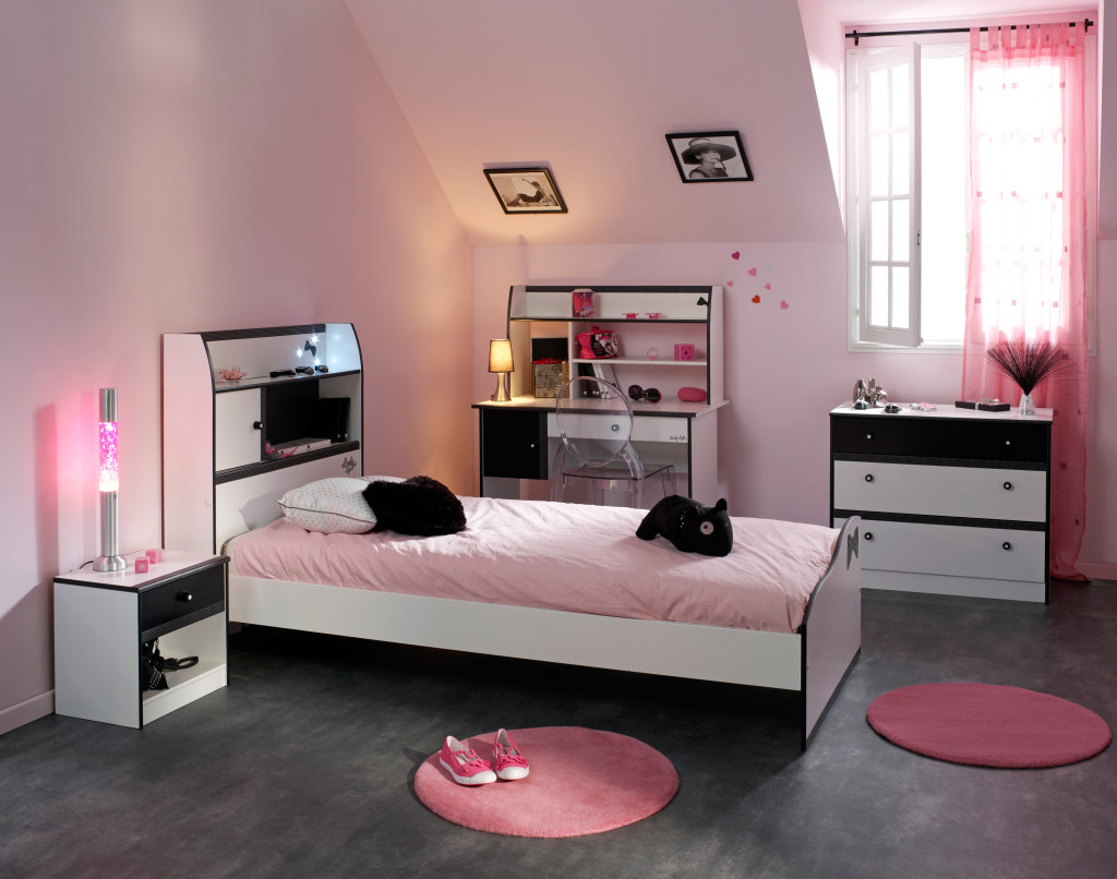 D co chambre coucher adolescent for Photo deco chambre