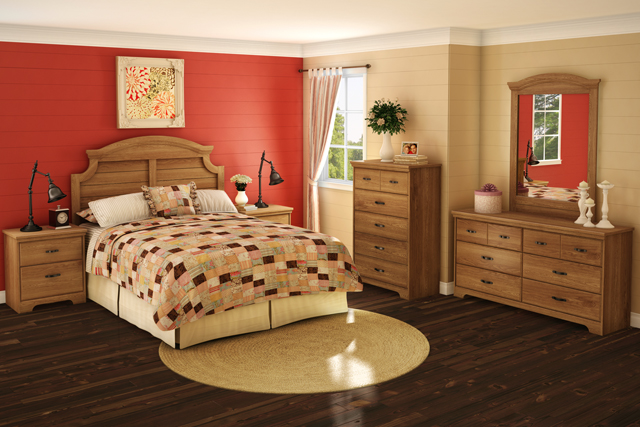 d co chambre coucher champ tre. Black Bedroom Furniture Sets. Home Design Ideas