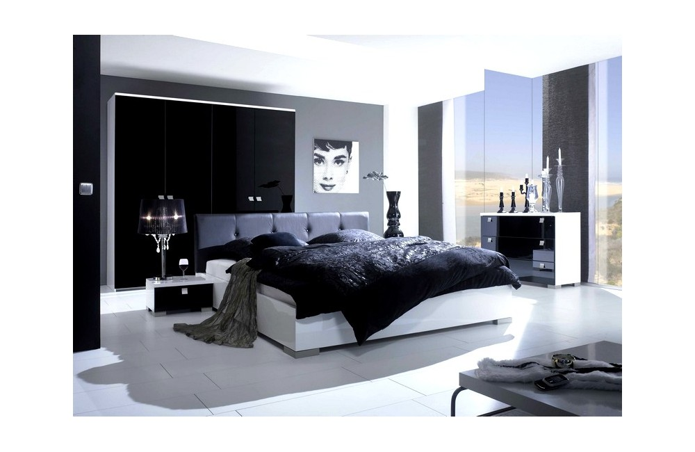 D co chambre coucher moderne for Decoration chambre a coucher contemporain