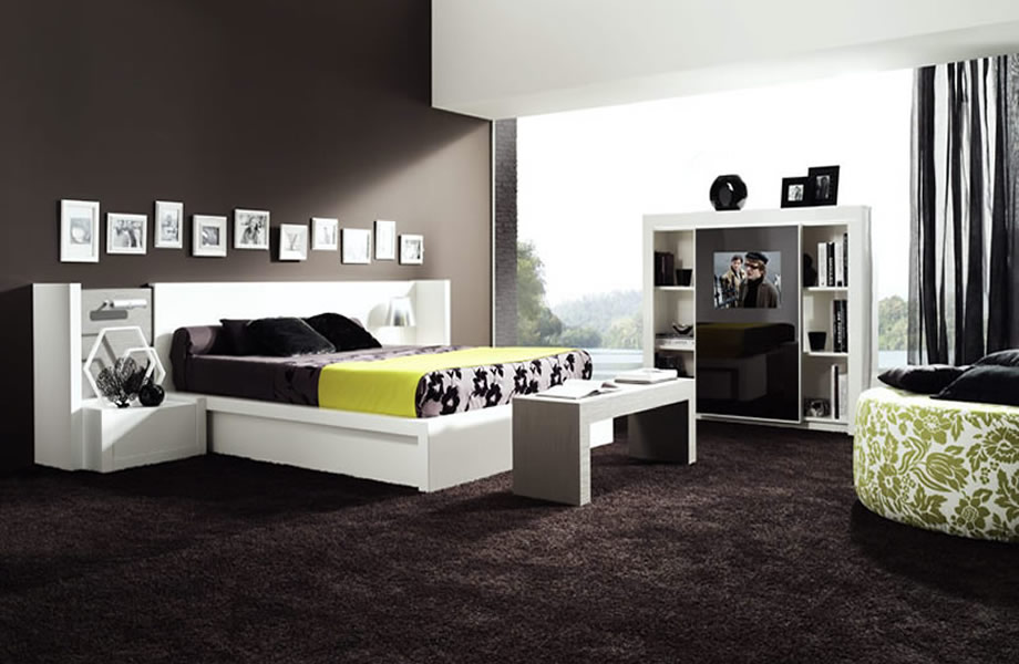 d co chambre coucher moderne. Black Bedroom Furniture Sets. Home Design Ideas