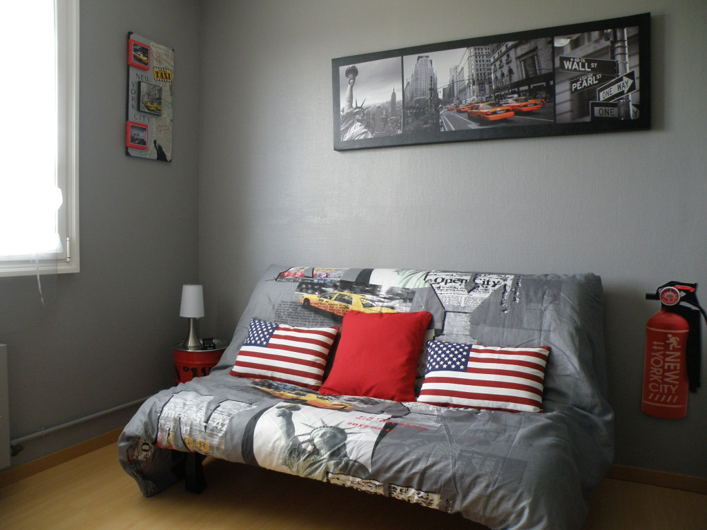 D co chambre ado for Idee decoration chambre ado new york