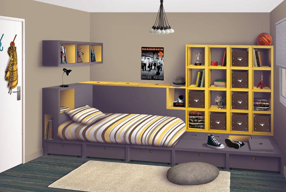 d co chambre ado. Black Bedroom Furniture Sets. Home Design Ideas