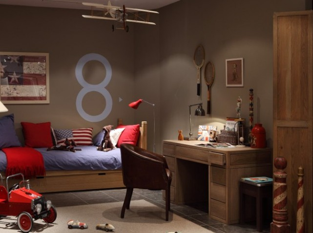 D co chambre adolescent garcon for Exemple deco chambre