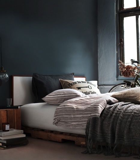 Stunning Idee Deco Chambre Gris Et Bleu Pictures - Amazing House ...