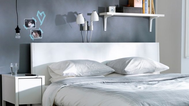 deco chambre adulte gris et bleu. Black Bedroom Furniture Sets. Home Design Ideas