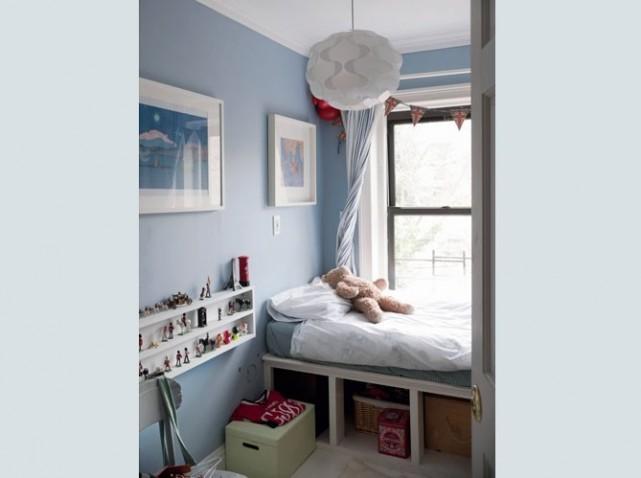 photo decoration déco chambre adulte gris bleu 9