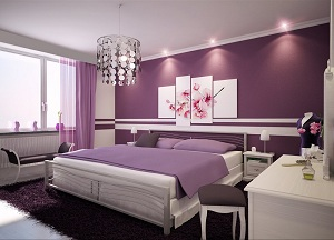 d co chambre adulte gris violet. Black Bedroom Furniture Sets. Home Design Ideas