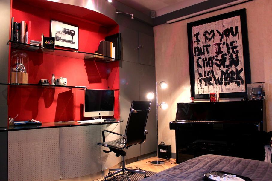 d co chambre adulte rouge et blanc. Black Bedroom Furniture Sets. Home Design Ideas