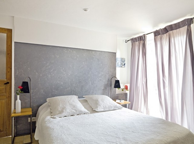 D co chambre adulte ton gris for Belle chambre adulte
