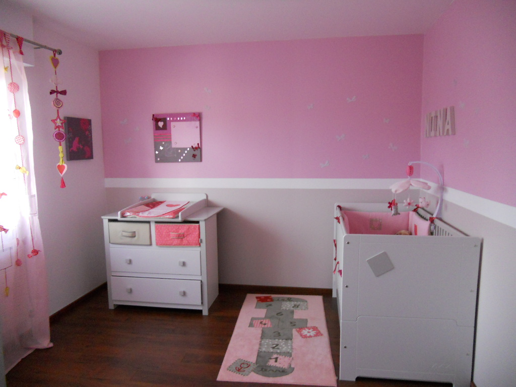 D co chambre b b fille photo for Organisation chambre enfant