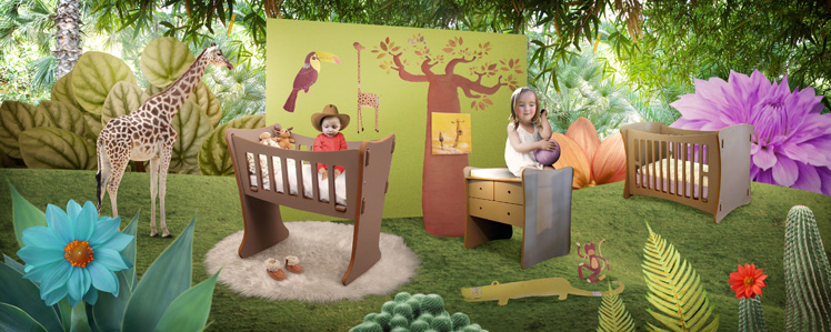 D co chambre b b gar on jungle - Idee decoration chambre bebe garcon ...