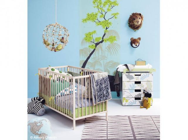 D co chambre b b nature for Organisation chambre bebe