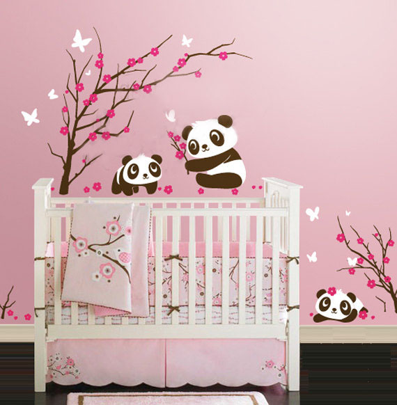 D co chambre b b stickers - Stickers geant chambre fille ...