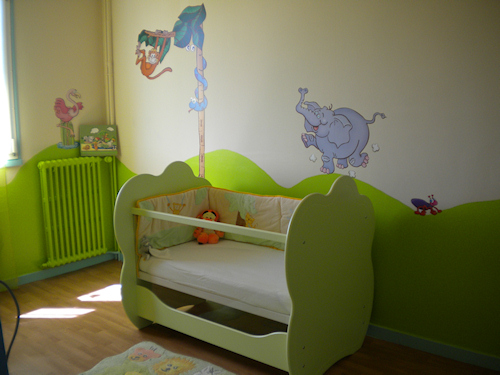 Chambre Garcon Vert Anis : Déco chambre bébé vert anis