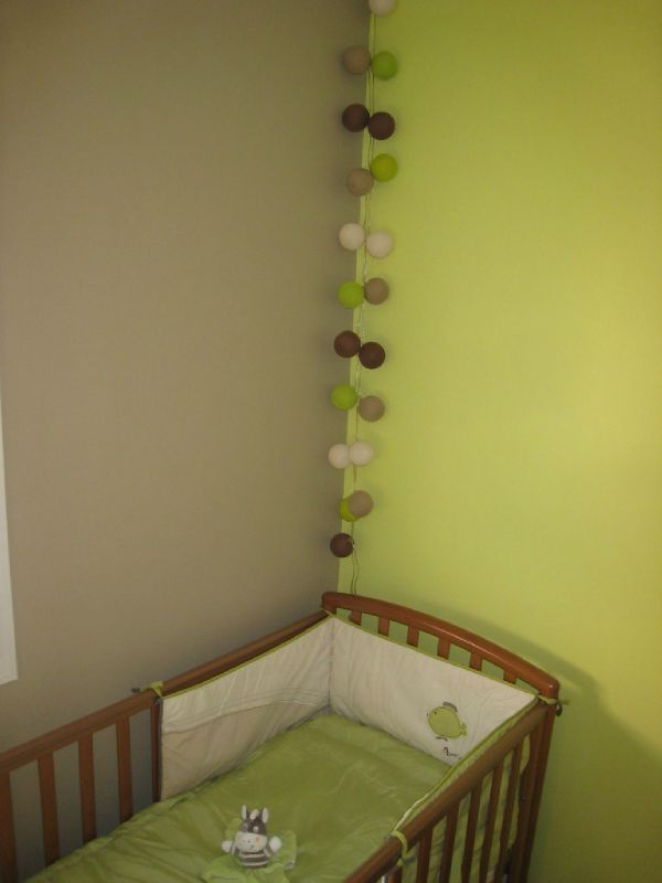 D co chambre b b vert anis for Exemple deco chambre bebe