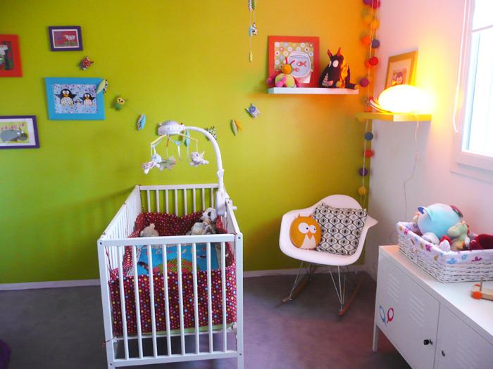 D co chambre b b vert anis - Chambre orange et vert bebe ...
