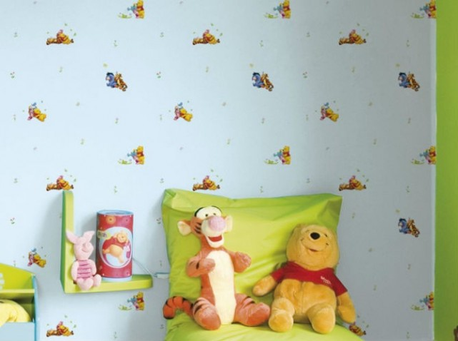 D co chambre b b winnie l 39 ourson for Organisation chambre enfant