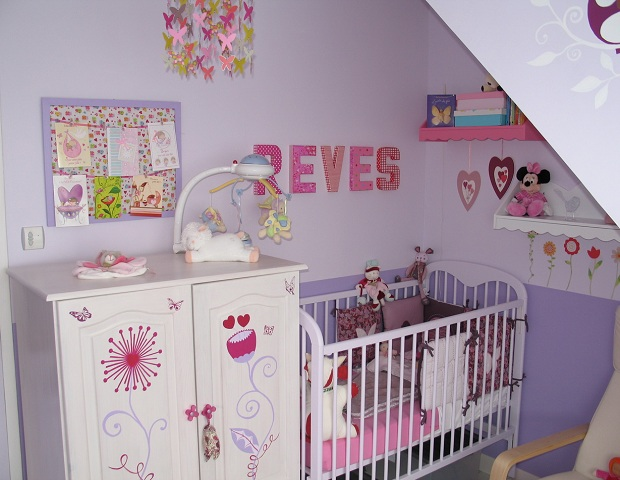 D co chambre fille b b for Photo decoration chambre bebe fille