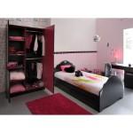 déco chambre fille rose et noir