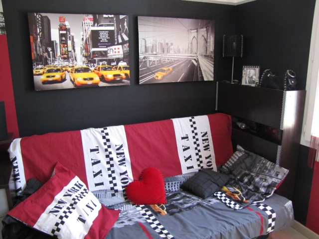 d co chambre new york pas cher. Black Bedroom Furniture Sets. Home Design Ideas