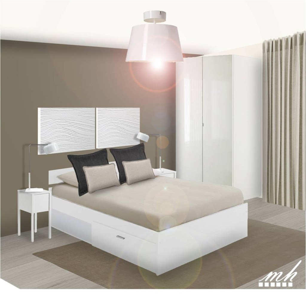 Chambre parentale moderne dcoration decoration chambre for Lit parental moderne