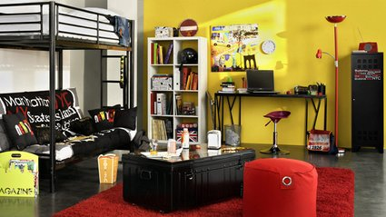 d co chambre style new york. Black Bedroom Furniture Sets. Home Design Ideas